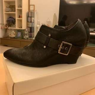 日本牌子Rabokigoshi Works 黑色真皮短靴 black leather ankle boot