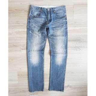 32腰 Levis 504 Straight 休閒彈力 強烈水洗 復古經典直筒 牛仔褲 二手長褲 工作褲 休閒褲