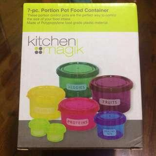 7-pc Portion Pot Container
