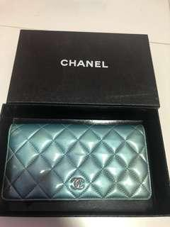 Authentic Chanel Patent Long Wallet