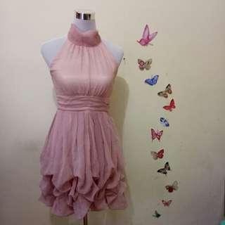 Pink Chiffon Prom Dress