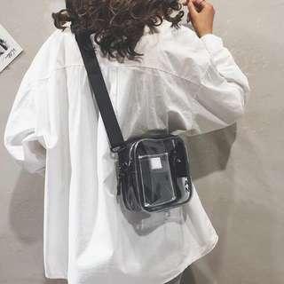 🚚 ulzzang transparent sling bag 🥀
