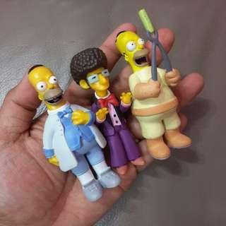 3pcs The Simpsons figures