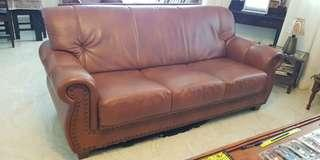 🚚 Used faux leather sofa (3 seater + 1 seater)