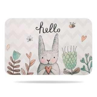Rabbit Diatomite Water Absorb Floor Mat Non slip diatom