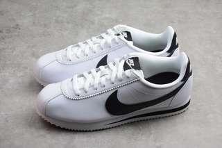 [PO] Nike Classic Cortes Leather Women's Shoes White Black