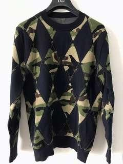 Dior Homme camouflage knitwear