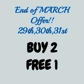Buy 2 Free 1 #MHB75