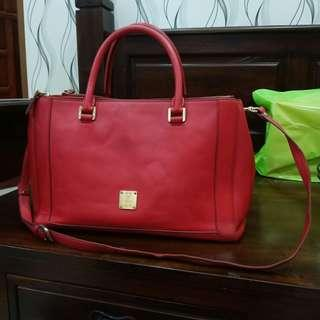 MCM NUOVO SMALL TOTE BAG RED