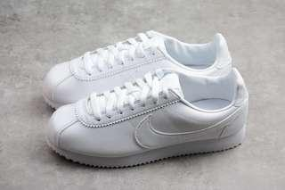 [PO] Nike Classic Cortes Leather Women's Shoes Triple White