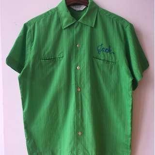 Vintage 1970 Jmpenial Sluiss Bowling Shirt not converse rrl levis lee red wing