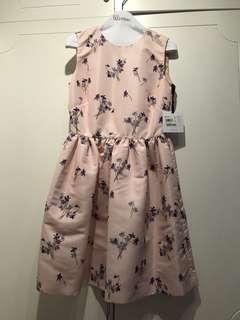 New red Valentino pink floral dress onepiece