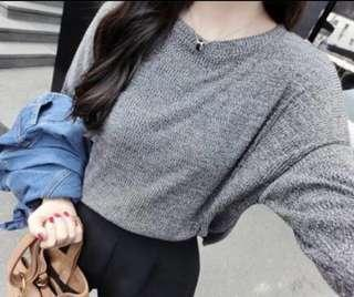 🚚 BN grey pullover oversized blouse top shirt