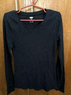 Old Navy stretchable longsleeves navy blue