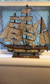 Gorch Fock collectors wooden ship. Excellent condition