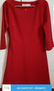 Red Long sleeve sexy back #dressforsuccess30