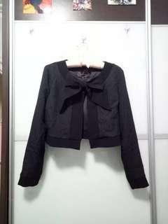 BN Little Match Girl Black Cute Harajuku Patterned Ribbon Blazer/Cardigan