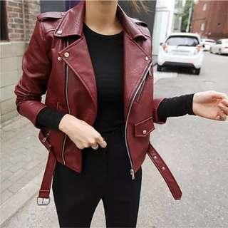 🚚 🔥現貨M,XL🔥韓版 挺版 騎士拉鍊壓紋皮外套 皮衣 網紅同款