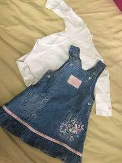 Mothercare Denim Dress Set