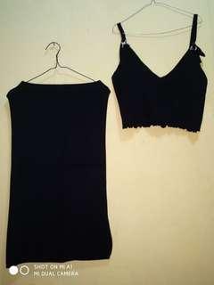 Set dress hitam