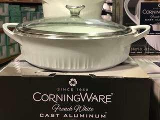 Corningware French White Cast Aluminum Braiser 3.8 L
