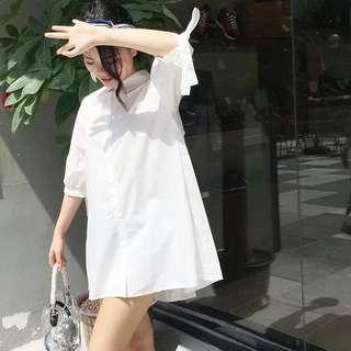 🚚 Shirt dress (white)