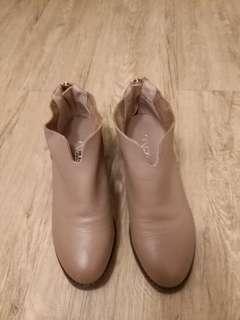 真皮啡色鞋1