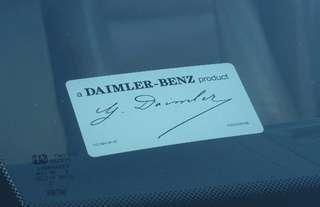 Mercedes signatory windscreen sticker