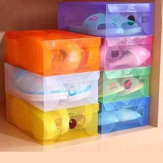 ✨晴麻麻✨翻蓋式收納鞋盒 (一組10入)
