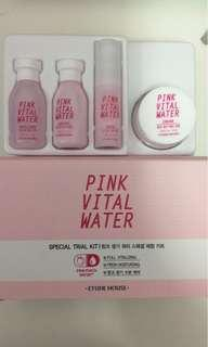 Etude House pink vital water special trial kit