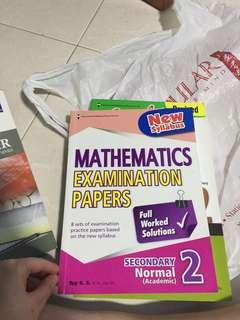 🚚 Secondary 2 Normal academic Mathematics examination papers assessment book