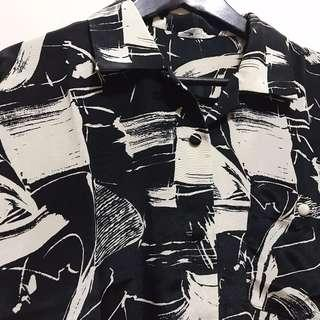 Black Pattern Vintage Shirt