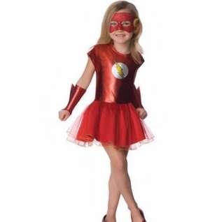 🚚 In stock -The Flash Red Tutu Costume For Girls With Eye Mask And Hand Guard Set