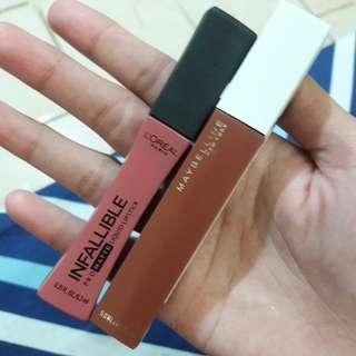 #dibuangsayang Loreal Infallible Pro Matte / Maybelline Super Stay Matte Ink