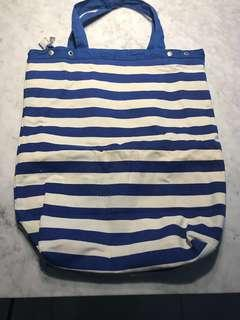 Large free-frill canvas bag
