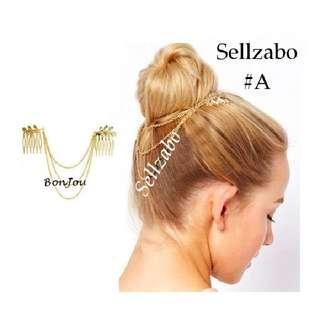 New 1 Pc Gold Golden Colour #A Hair Chains Head Accessories Sellzabo