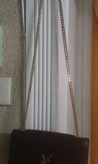 =YSL  Caviar leather Tassel chain shoulder bag