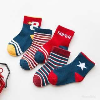 (5pcs) Kids Socks for 1-5 year olds