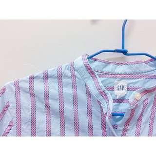 GAP 運費半價 長版襯衫 直條紋 防曬外套