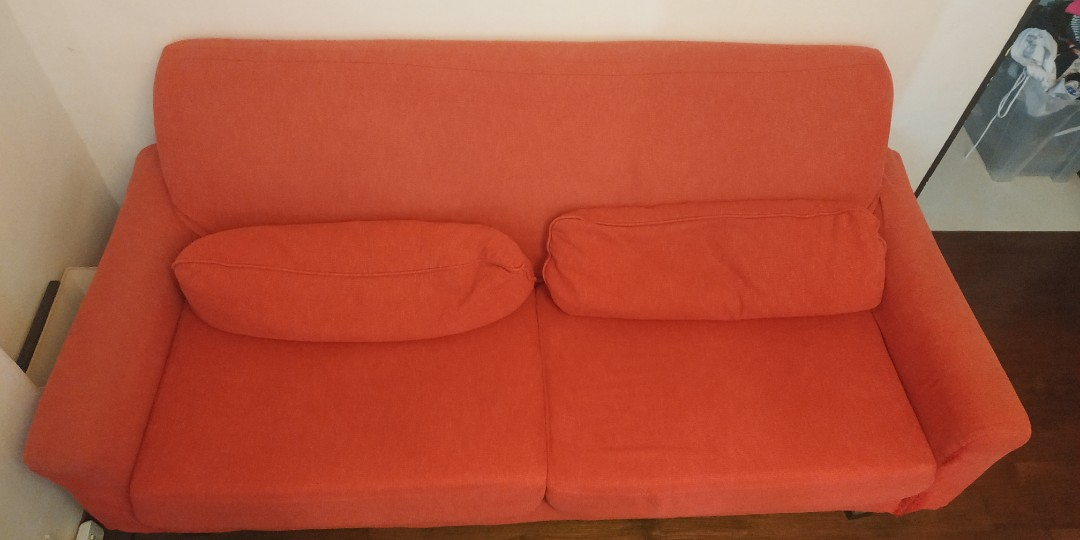 4 seater red sofa - rush sale! Price lowered!