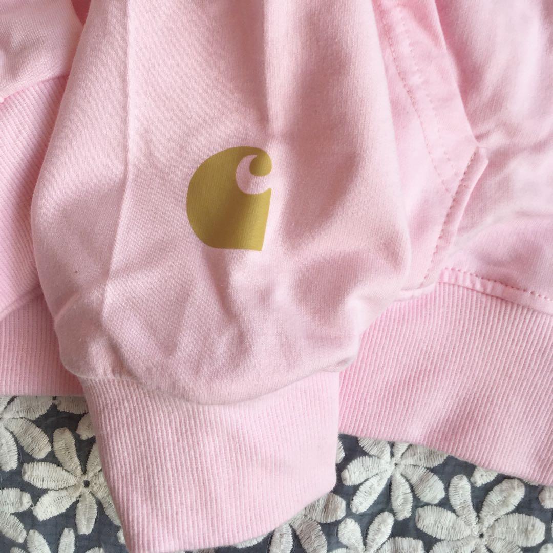 粉紅色連帽衛衣