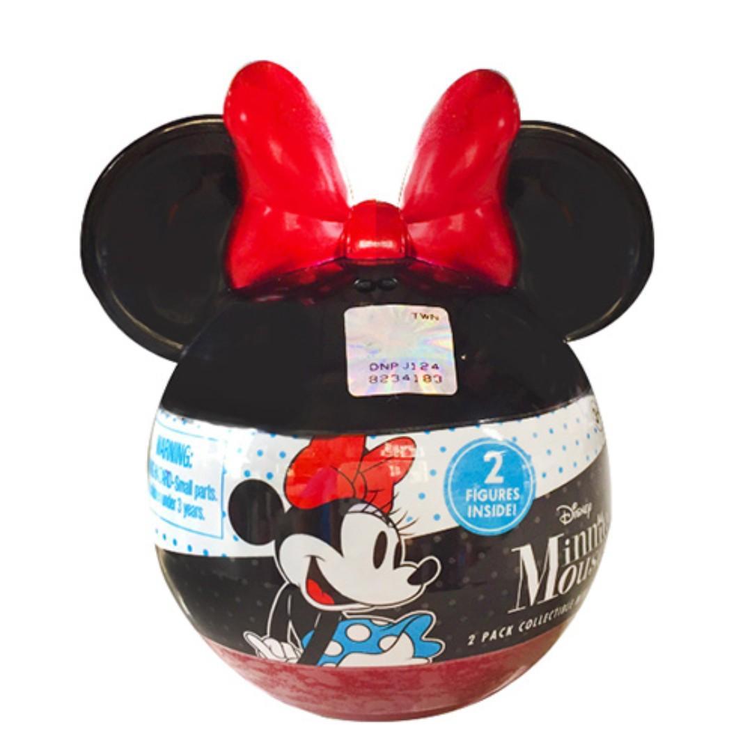 迪士尼 正版授權 米奇90週年 米妮小公仔驚喜組 (含2公仔) 米妮頭型造型扭蛋 2入 公仔 玩具 擺件 米妮 扭蛋 轉蛋