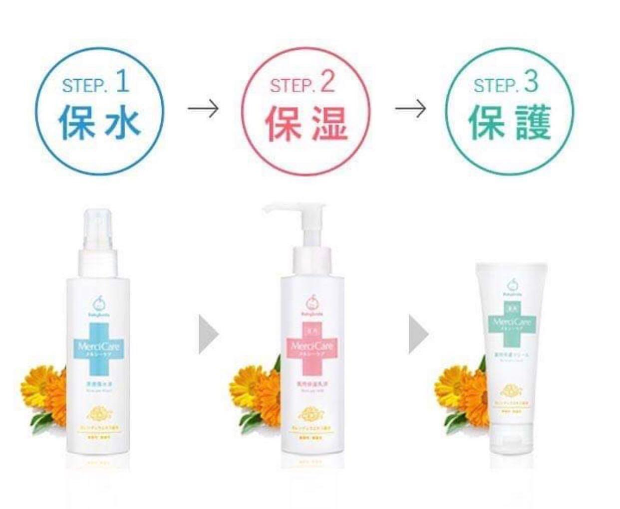 日本 Babysmile Mercicare 濕疹保濕套裝