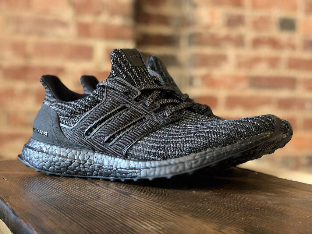new styles fec31 b1774 Adidas Ultra Boost 4.0 Triple Black, Men's Fashion, Footwear ...