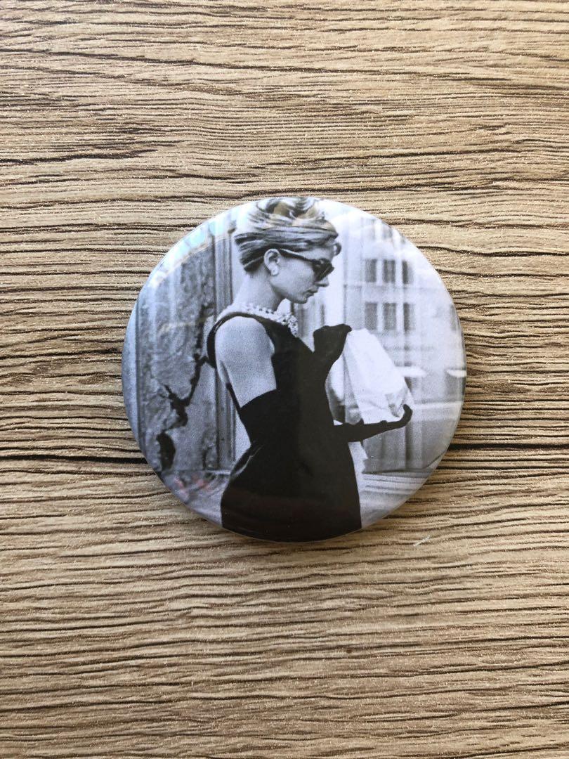 Audrey Hepburn Badges (4 Pack) 58mm