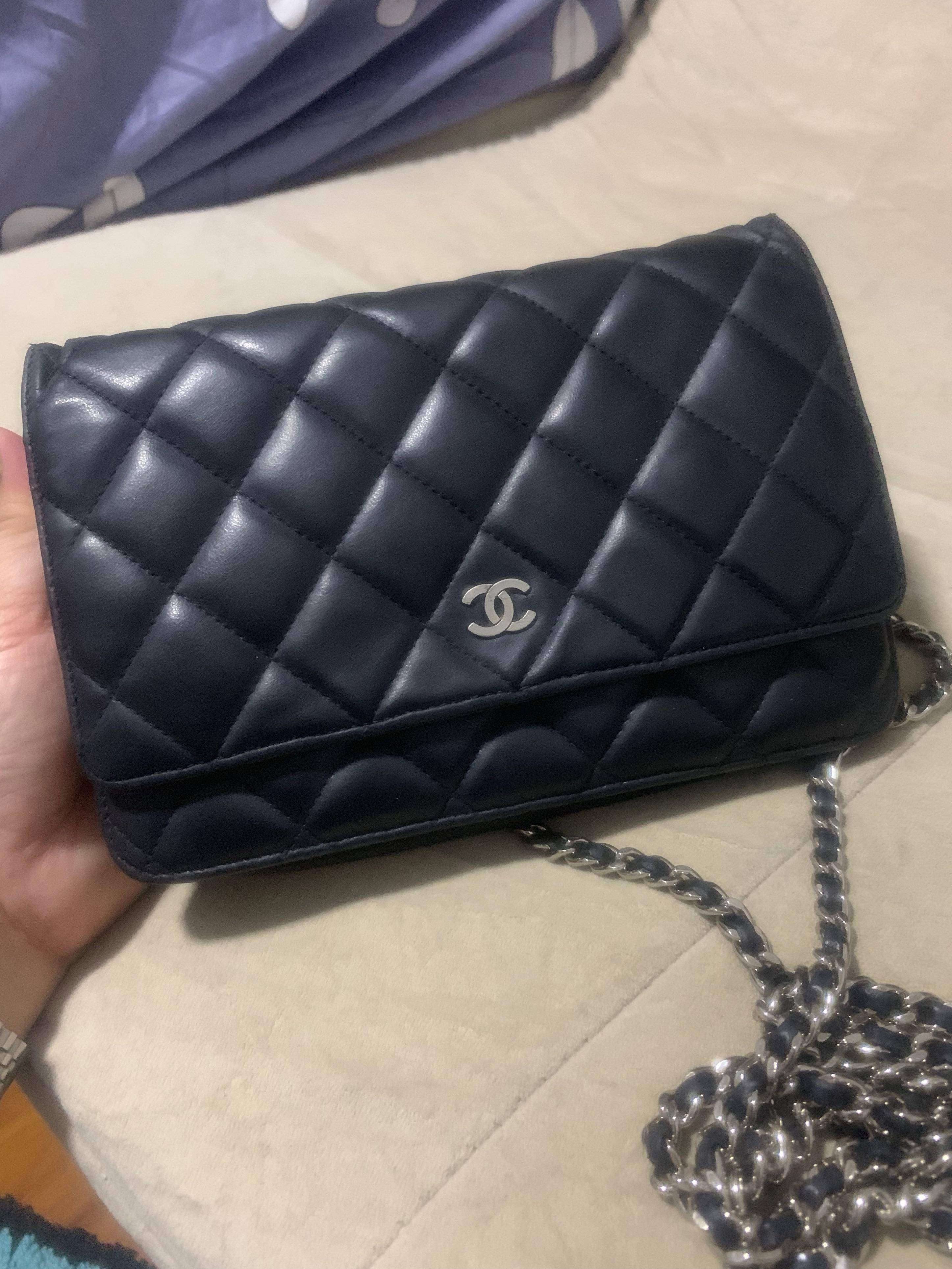 b2530b8bda29dd 🎀Auth Chanel Sling bag / Wallet on Chain WOC SHW w receipt ...