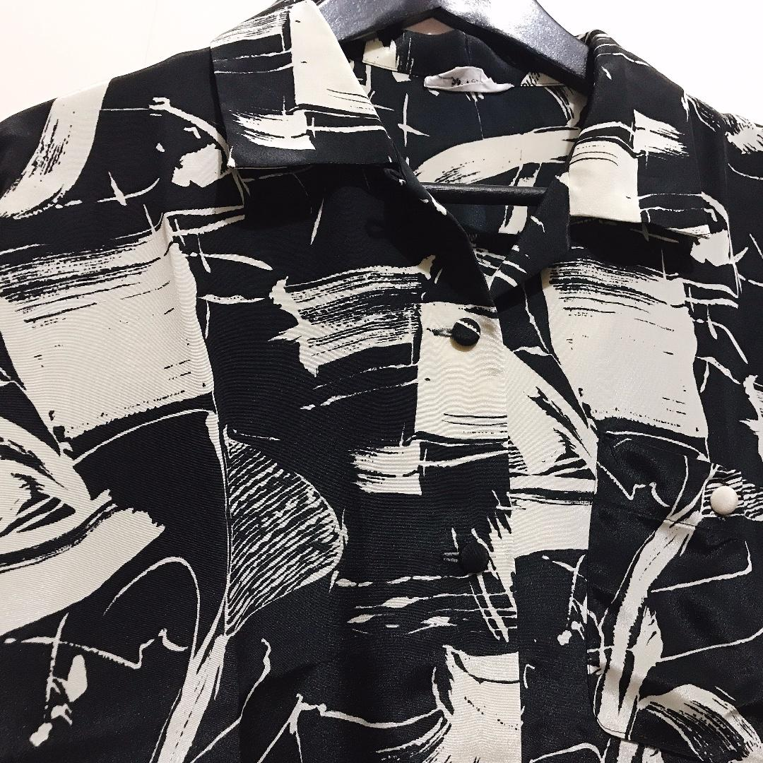 Black Pattern Vintage Shirt
