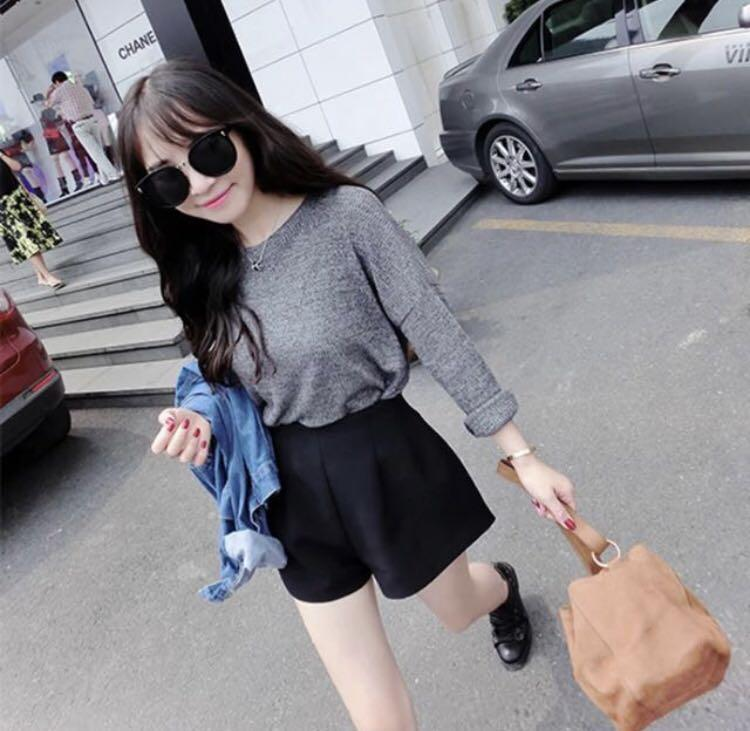 BN grey pullover oversized blouse top shirt