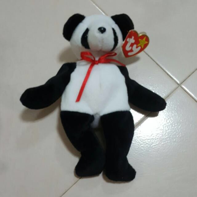 c1c1fd06434 Brand New Fortune the Ty Beanie Baby Panda Bear Retired Mint w  Tag ...