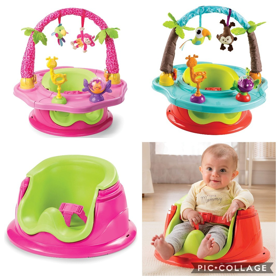 Booster and... Summer Infant 3-Stage SuperSeat Deluxe Giggles Island Positioner